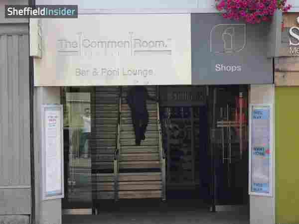 The Common Room Sheffield, City Centre Devonshire Street