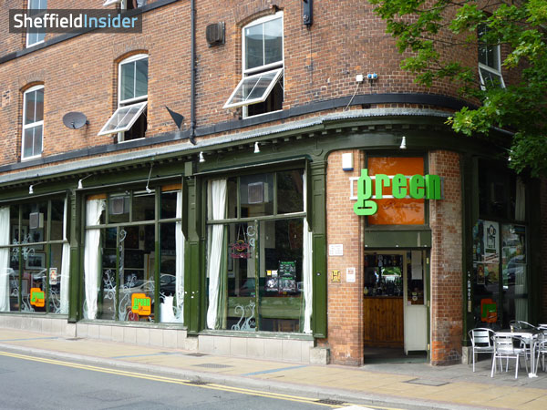Green Room Sheffield Menu